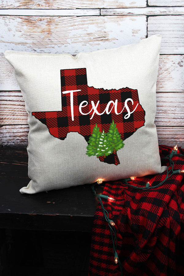 Plaid Texas Decorative Pillow Cover