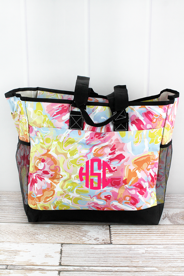 Watercolor Splash Everyday Organizer Tote