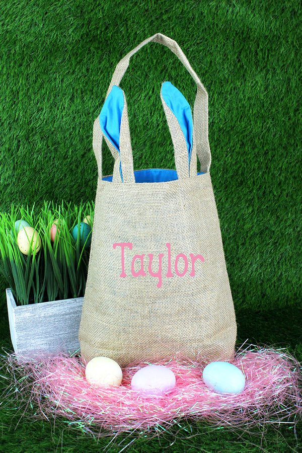 Blue Bunny Ear Easter Tote