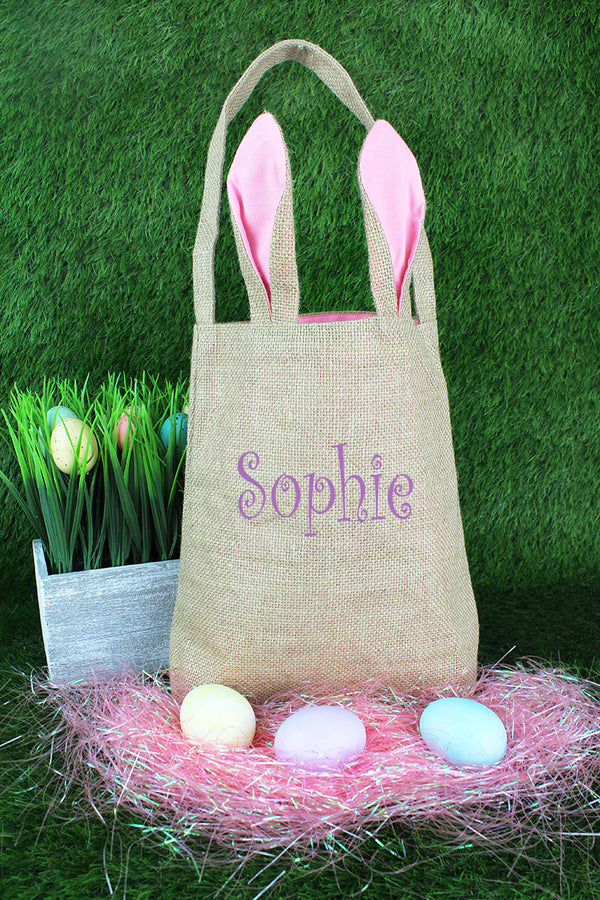 Pink Bunny Ear Easter Tote