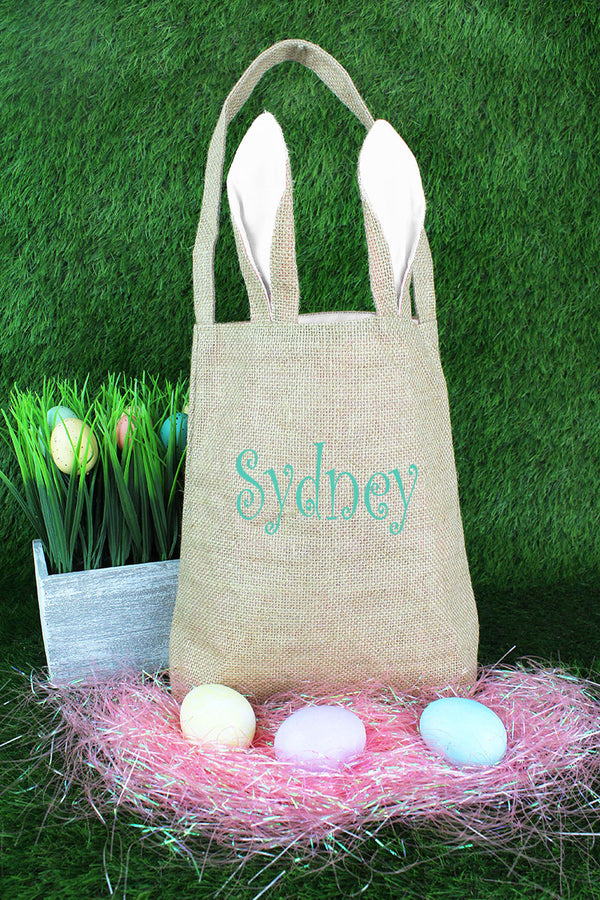 White Bunny Ear Easter Tote