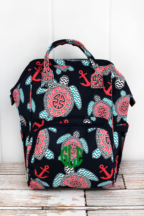 Preppy Under the Sea Diaper Bag Backpack