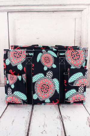 Preppy Under the Sea Utility Tote with Navy Trim