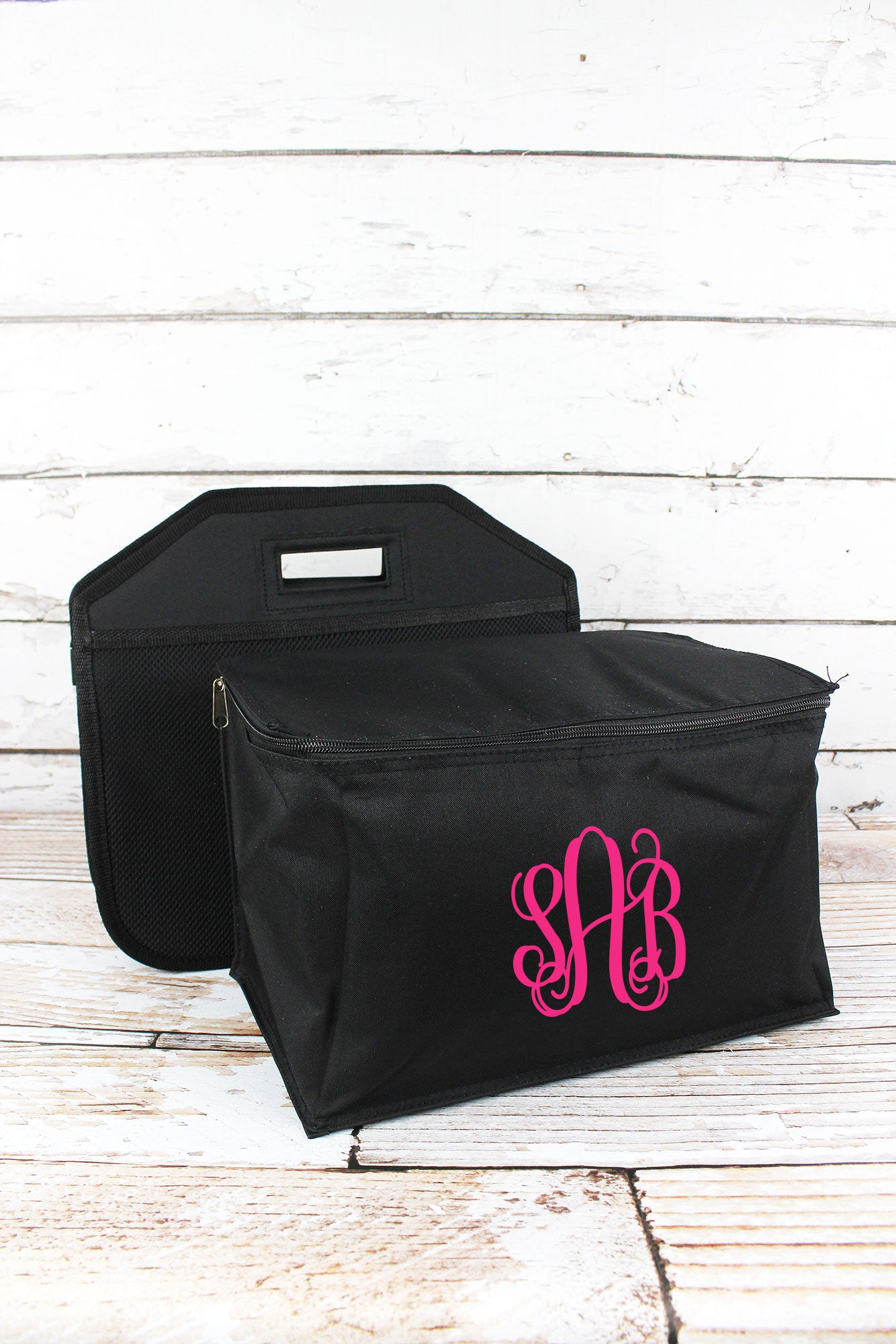 Black Utility Storage Tote With Insulated Bag ...