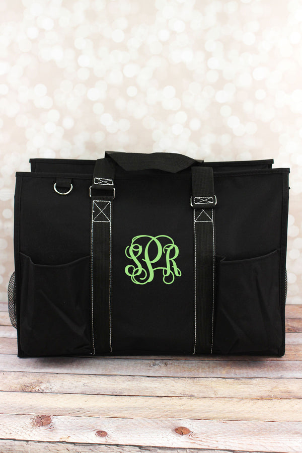 Black Large Organizer Tote