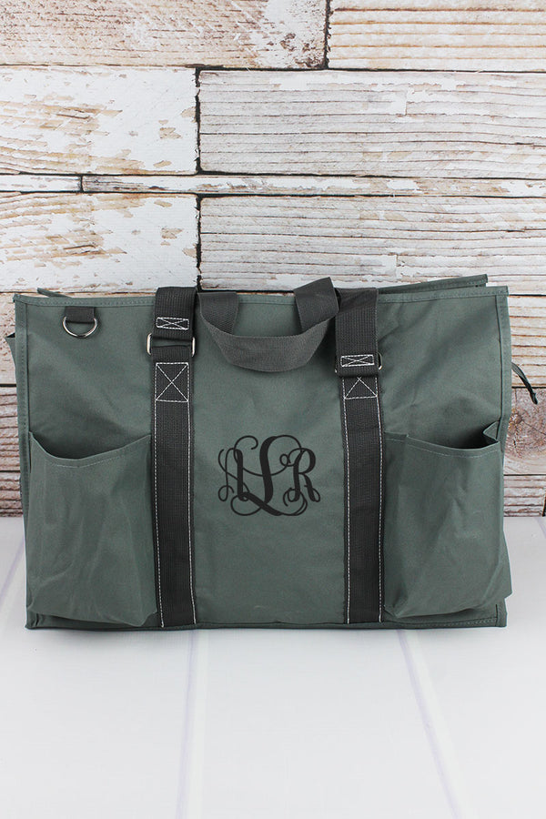 Moss Gray Large Organizer Tote