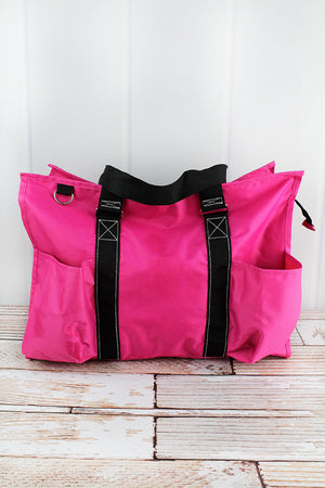 Hot Pink Large Organizer Tote