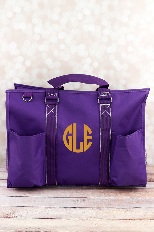 Purple Large Organizer Tote