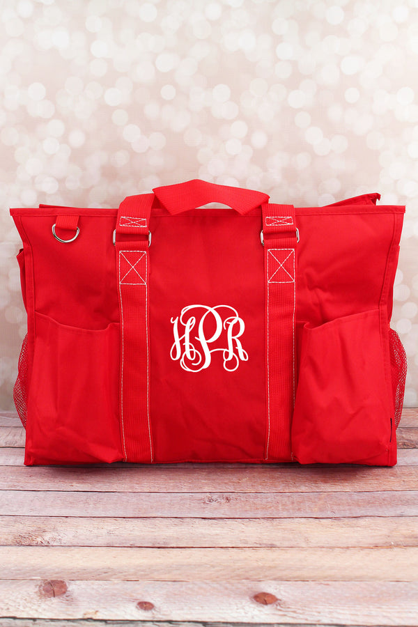 Red Large Organizer Tote