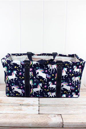 Unicorn Dreams Collapsible Haul-It-All Basket with Mesh Pockets