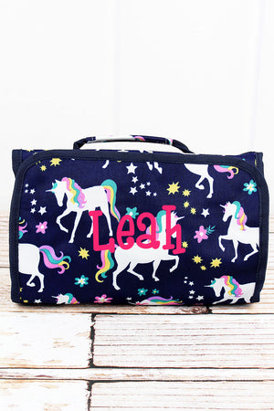 Unicorn Dreams Roll Up Cosmetic Bag