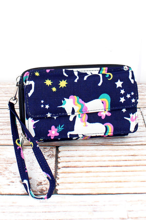 Unicorn Dreams Crossbody Organizer Clutch