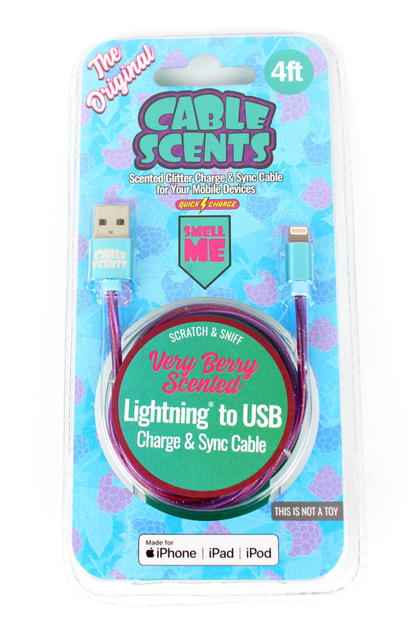 Cable Scents Very Berry Lightning to USB Charge & Sync Cable