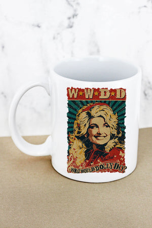 Vintage What Would Dolly Do White Mug