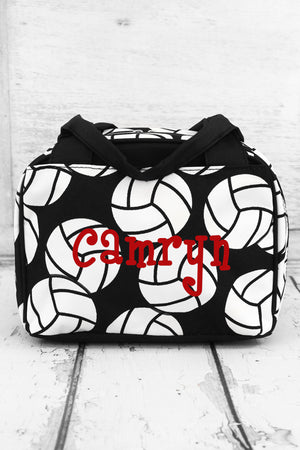Volleyball Insulated Bowler Style Lunch Bag