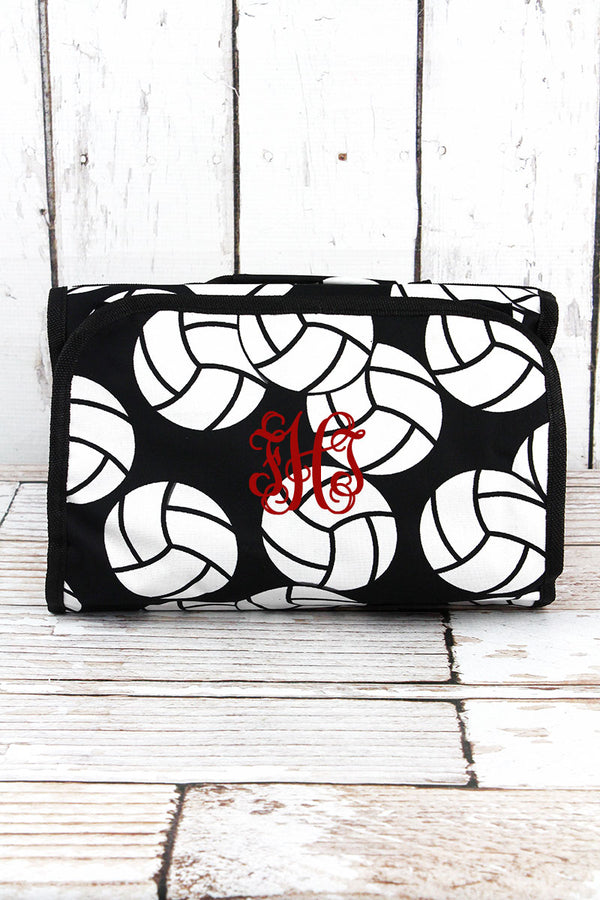 Volleyball Roll Up Cosmetic Bag