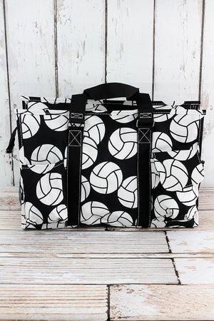 Volleyball Utility Tote with Black Trim