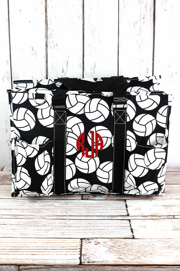 Volleyball with Black Trim Large Organizer Tote