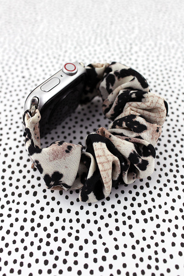 Beige Snakeskin Fabric Stretch Band for Apple Watch