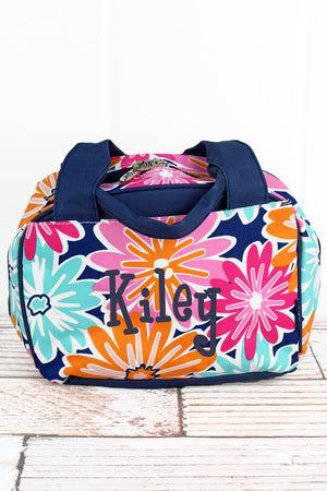 Vibrant Flowers Insulated Bowler Style Lunch Bag