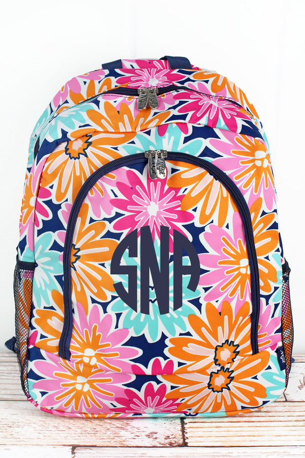Vibrant Flowers Large Backpack
