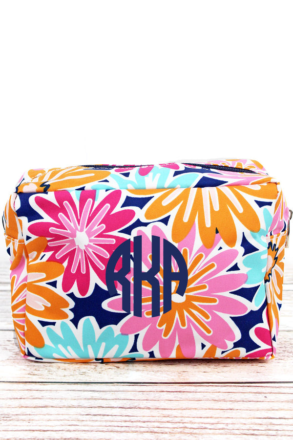 Vibrant Flowers Cosmetic Case