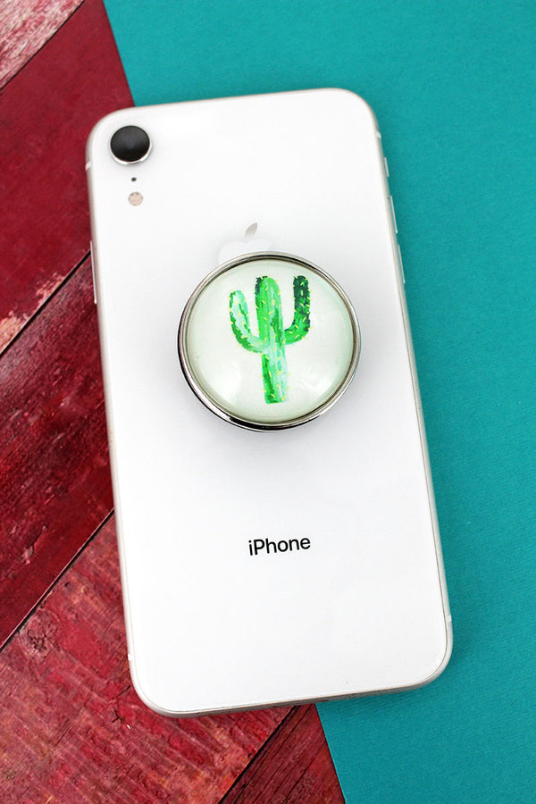 Cactus Bubble Phone Grip & Stand