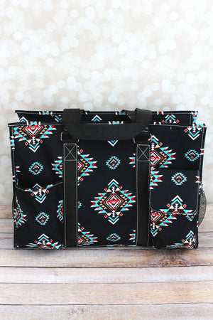 Desert Diamond with Black Trim Large Organizer Tote