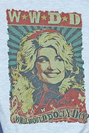 Vintage What Would Dolly Do Poly/Cotton Tee