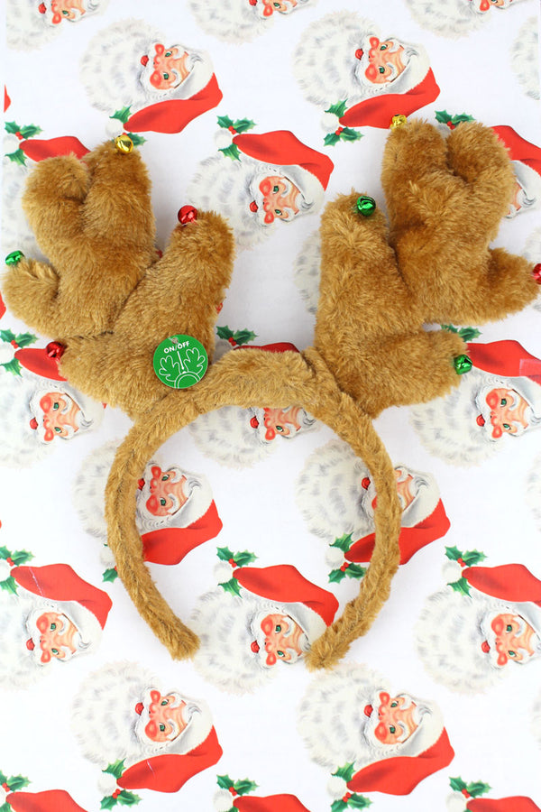 Flashing Plush Reindeer Headband