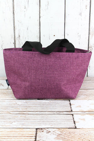 Black Cherry Crosshatch Insulated Lunch Bag