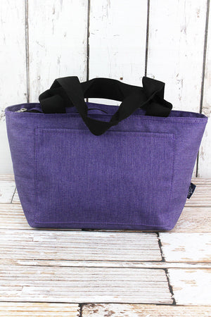 Amethyst Purple Crosshatch Insulated Lunch Bag