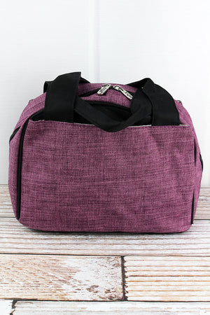 Black Cherry Crosshatch Insulated Bowler Style Lunch Bag