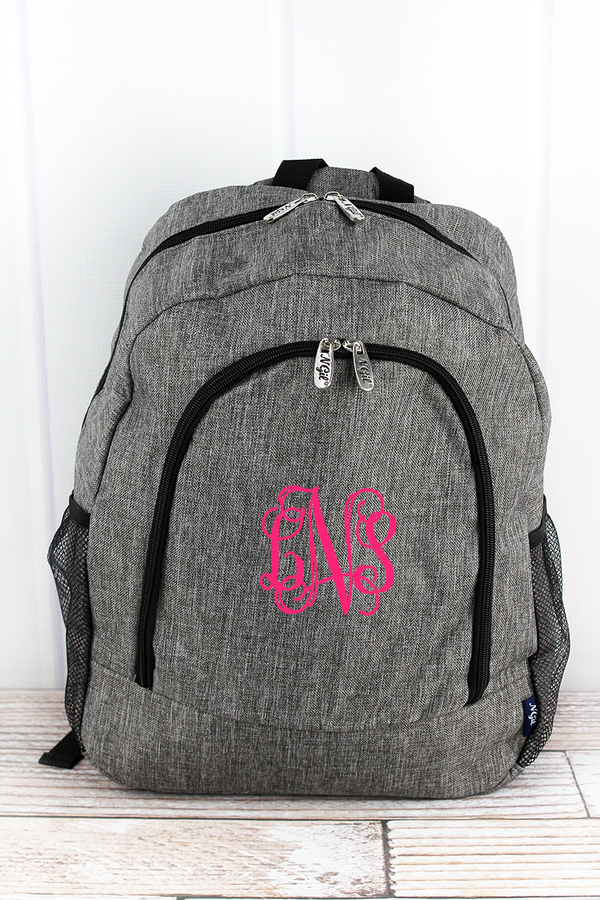 Steel Gray Crosshatch Large Backpack
