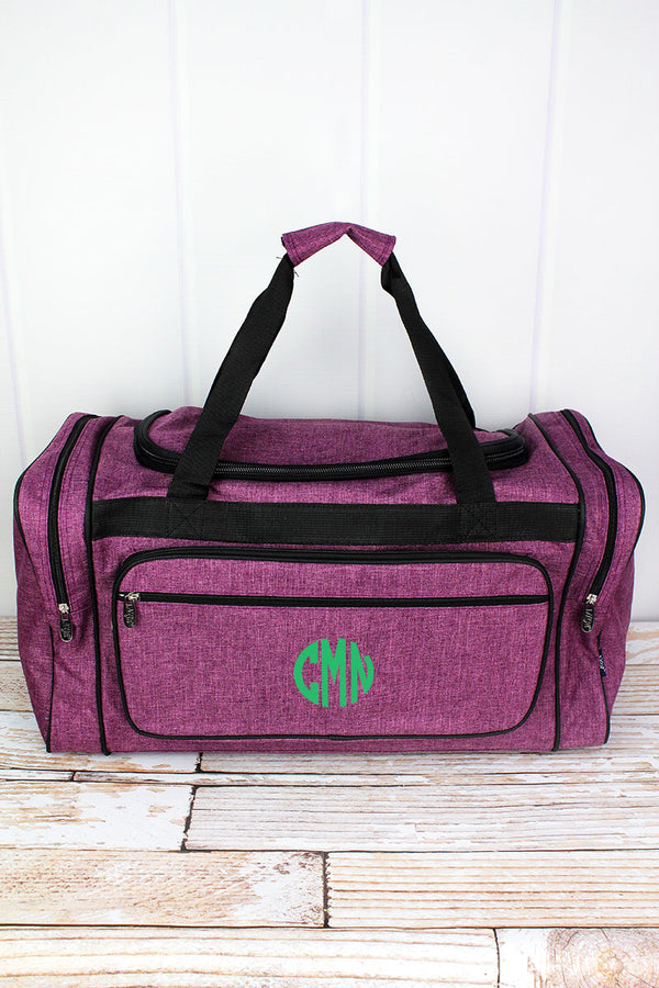 Black Cherry Crosshatch Duffle Bag with Black Trim 23""