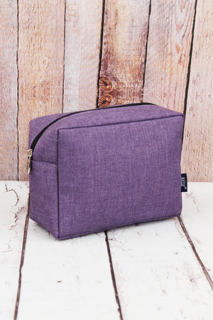 Amethyst Purple Crosshatch Cosmetic Case