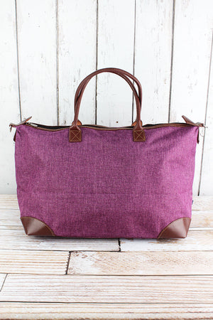 Black Cherry Crosshatch Large Tote Bag