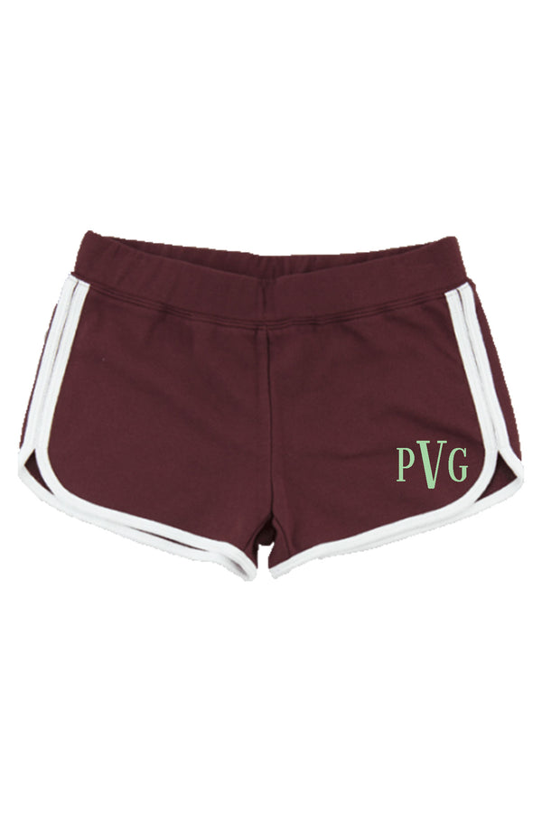 Boxercraft Youth Relay Short, Maroon and White