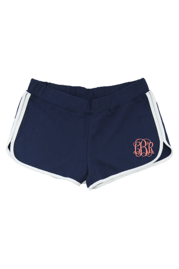 Boxercraft Youth Relay Short, Navy and White