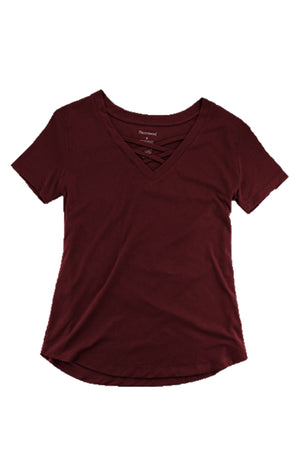 Boxercraft Youth Maroon Front Caged Tee