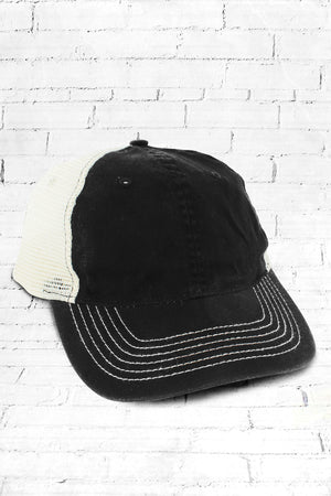 Black and Stone Washed Trucker Cap