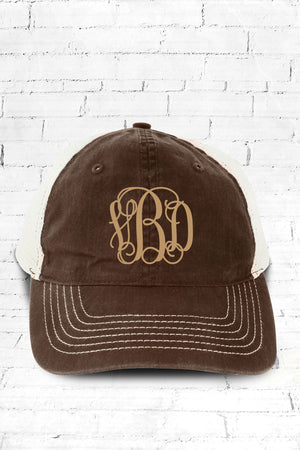 Brown Washed Trucker Cap