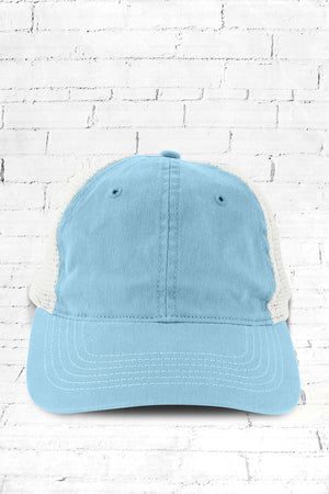 Carolina Blue Washed Trucker Cap