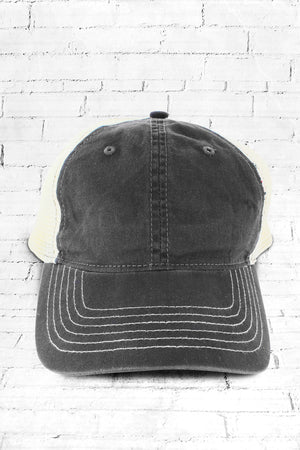 Grey Washed Trucker Cap