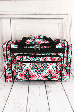 Blissful Garden Duffle Bag with Black Trim 20""