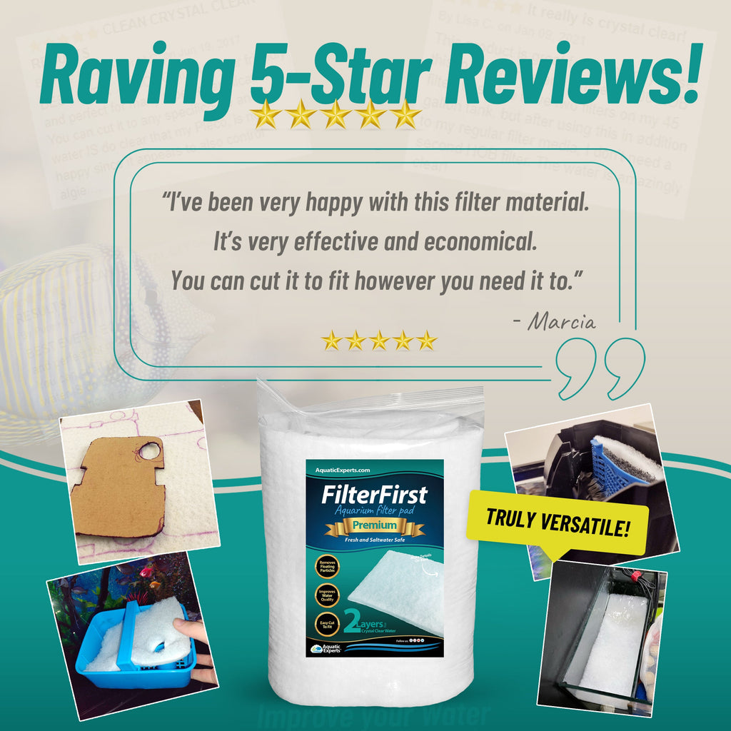 "FilterFirst Premium True Dual Density Filter Media Roll - 12"" X 72"" X .75"" Filter Pad Aquatic Experts"
