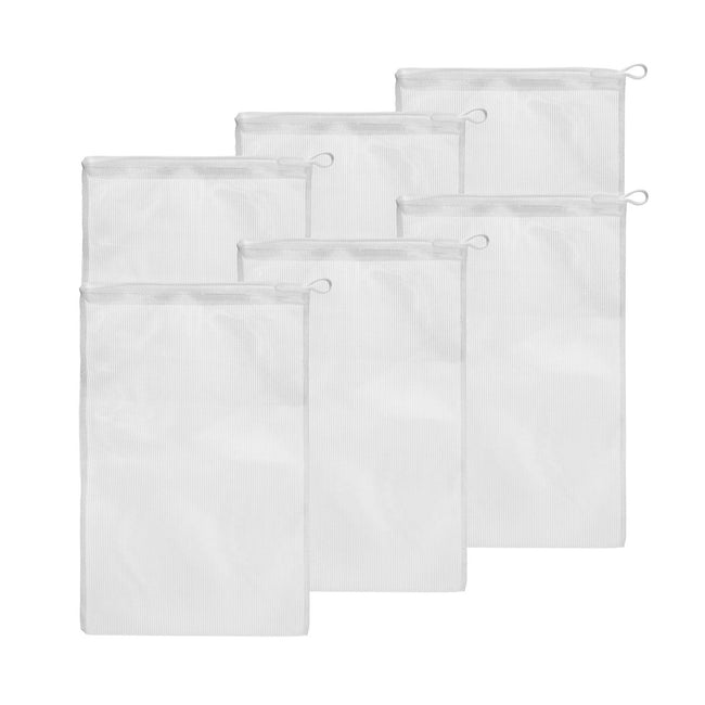 High-Flow Mesh Media Filter Bags with Drawstring - 8 Inch by 12 inch - 6 Pack Filter Bag Aquatic Experts