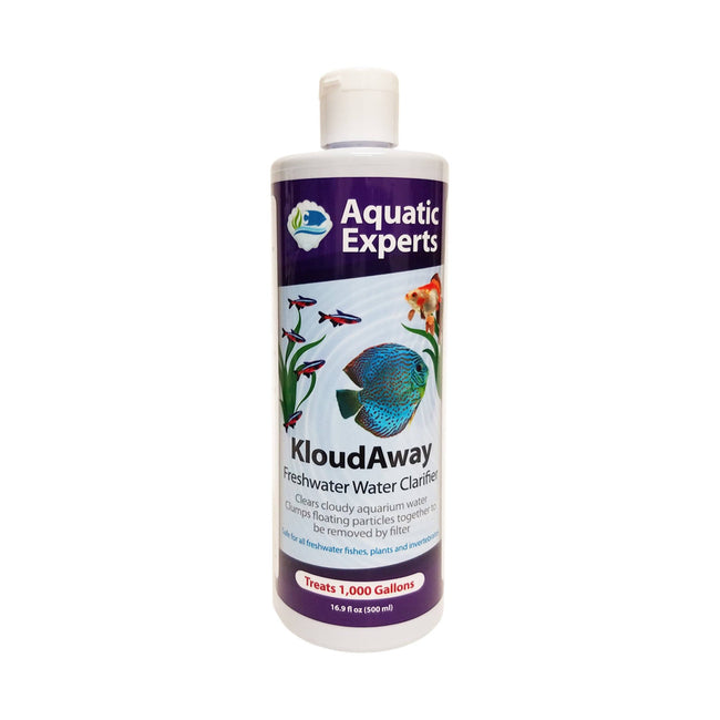 KloudAway Freshwater Aquarium Water Clarifier - Clears Cloudy Water, 500 ml Pond Water Clarifier Aquatic Experts