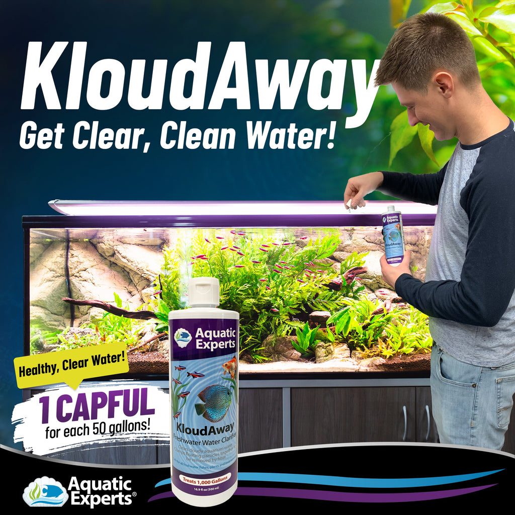 KloudAway Freshwater Aquarium Water Clarifier - Clears Cloudy Water, 500 ml Aquatic Experts