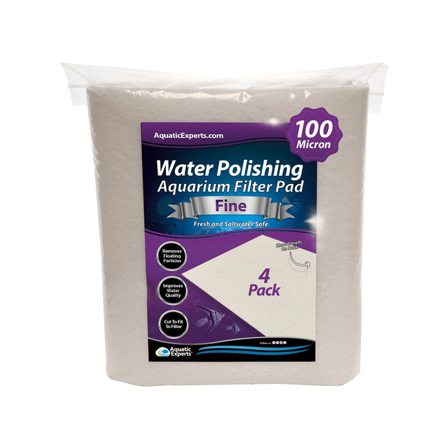 Polishing Filter Pad 100 Mi Prefilter Media - 24 in by 36 in by 1/8 in - 4 Pack Filter Pad Aquatic Experts